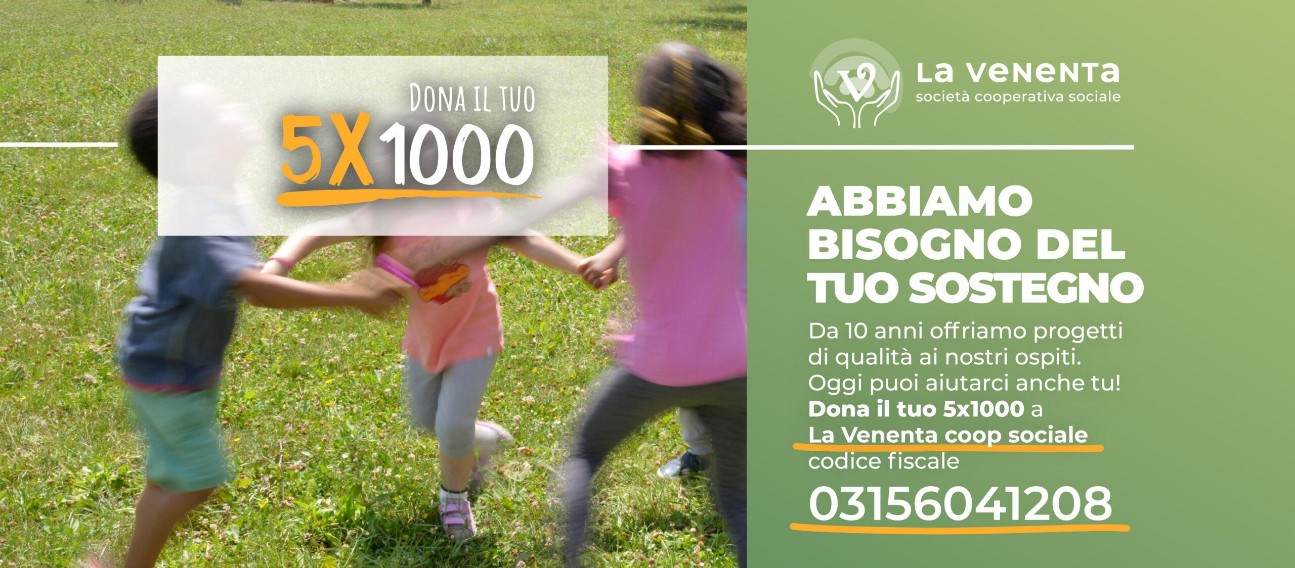 Dona il tuo 5×1000 a coop sociale La Venenta